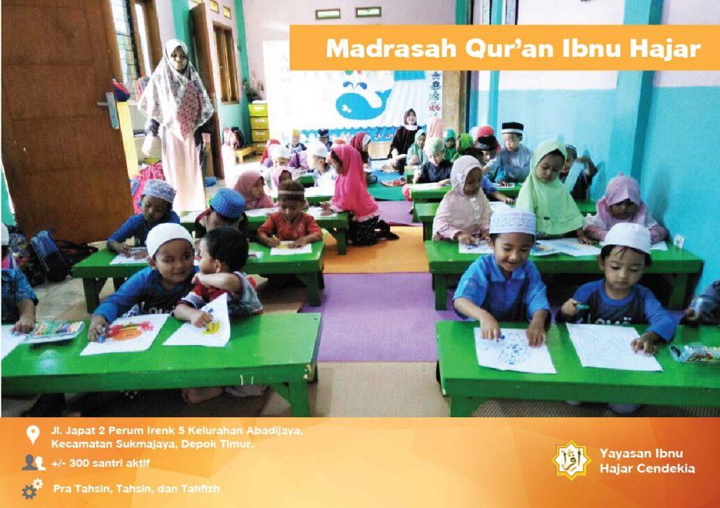 Kegiatan Belajar dan Hafalan AlQuran Madrasah Quran IBnu Hajar Cendekia