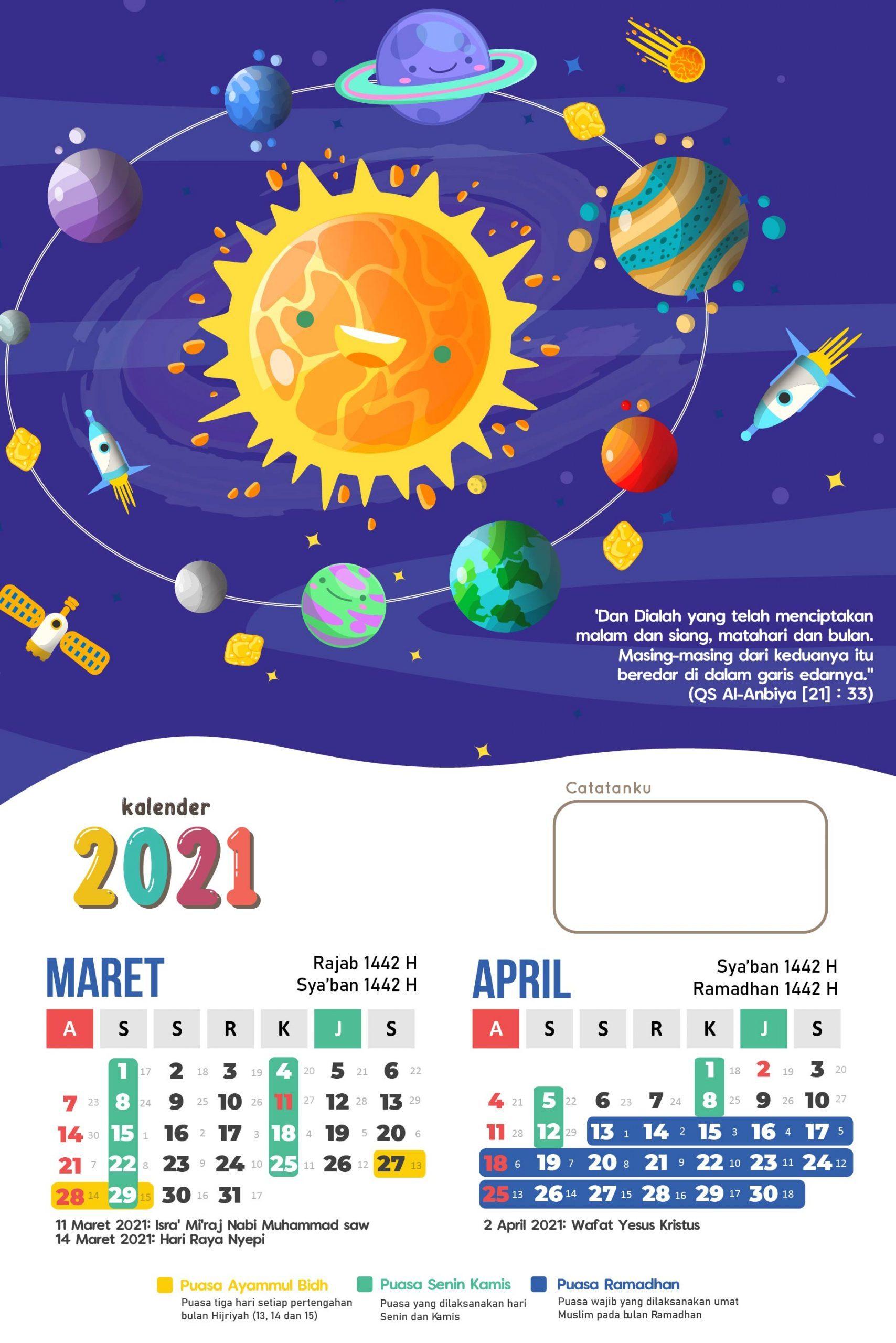 Kalenderblatt 2021 - Download Template Kalender 2021 Free ...
