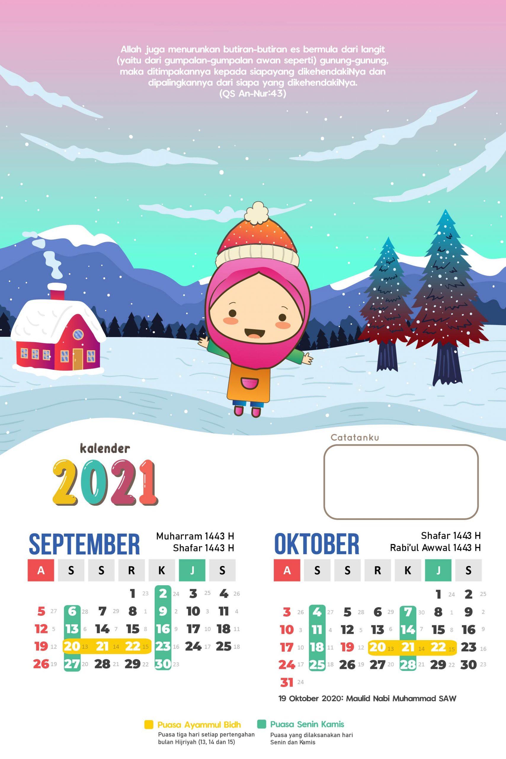 Kalender Anak Muslim 2021 - Kalender Penanggalan Terlengkap